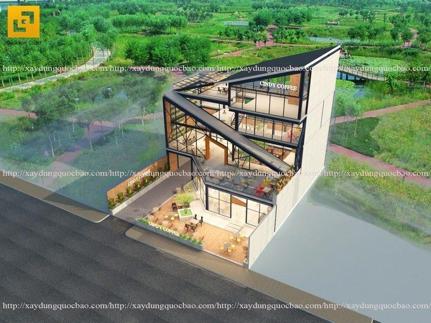 Mẫu thiết kế Quán cà phê đẹp hiện đại tại Biên Hòa Đồng Nai 4