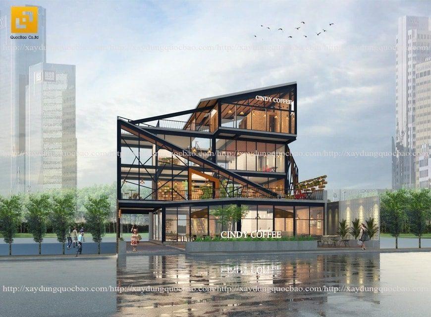 Mẫu thiết kế Quán cà phê đẹp hiện đại tại Biên Hòa Đồng Nai 5