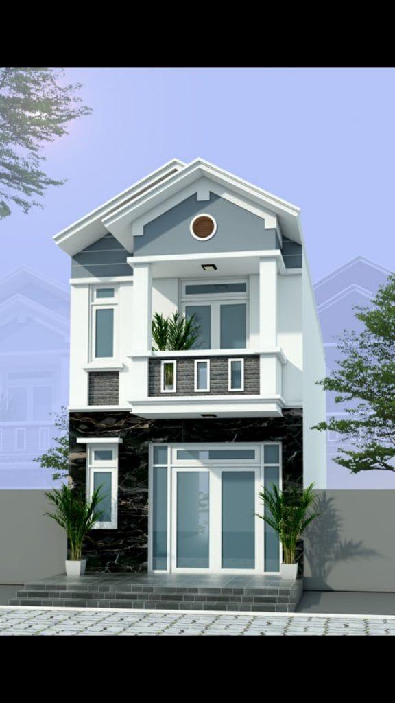 Thiết kế Nhà phố chị Hòa tại Biên Hòa