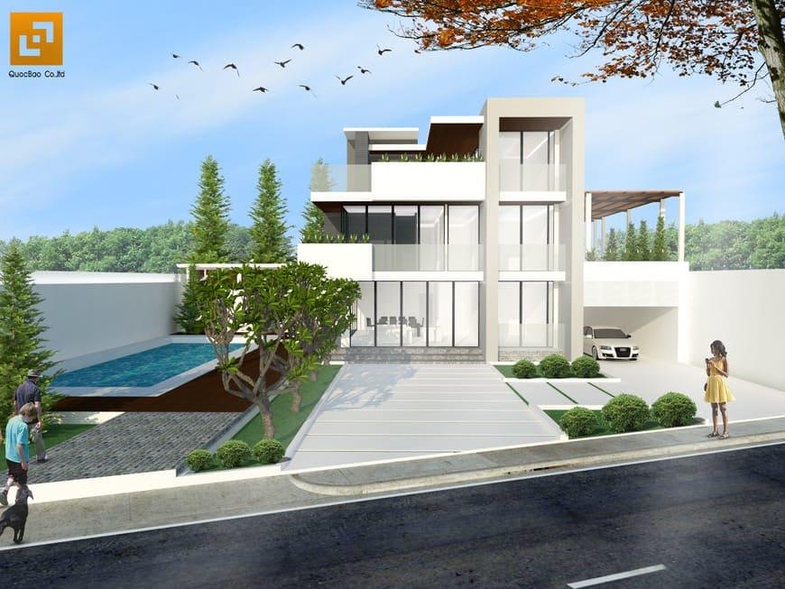 Thiết kế Thi công Biệt thự Hiện đại tại Biên Hòa