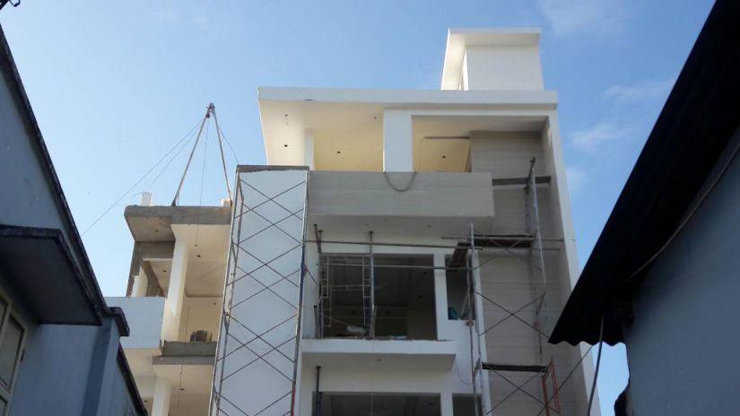 Ngôi Biệt thự đang dần hoàn thiện