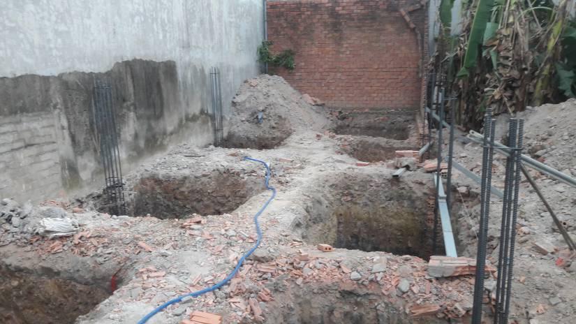 Khởi công xây dựng nhà anh Hữu tại Hố Nai - Biên Hòa