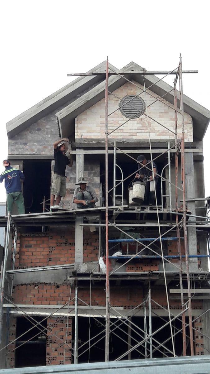 Thi công phần thô căn nhà Phố 2 tầng tại Biên Hòa