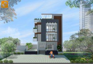 Mặt tiền Biệt thự hiện đại gia đình anh Trí - Biên Hòa