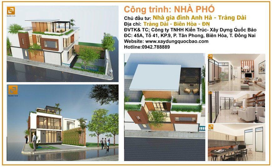 Thiết kế Nhà phố gia đình anh Hà tại Trảng Dài - Biên Hòa