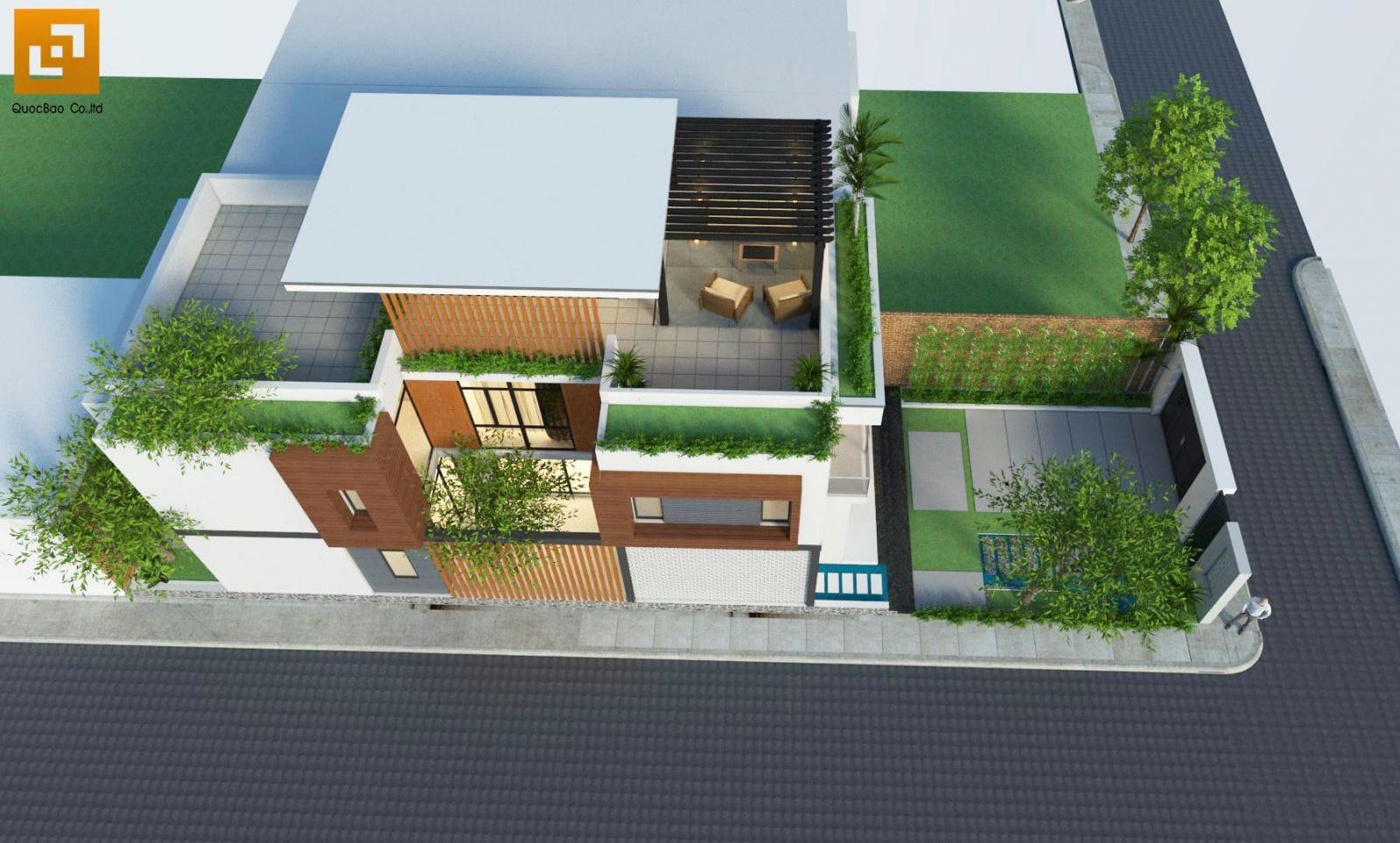 Thiết kế Nhà phố từ trên cao tại Biên Hòa
