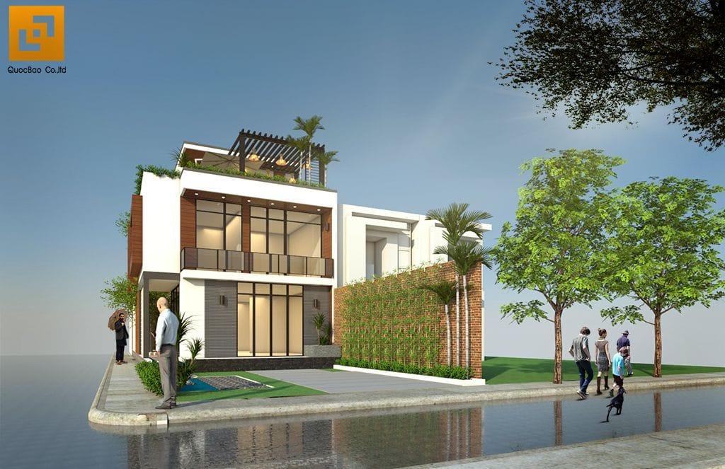 Mặt tiền Nhà phố gia đình anh Hà tại Trảng Dài - Biên Hòa