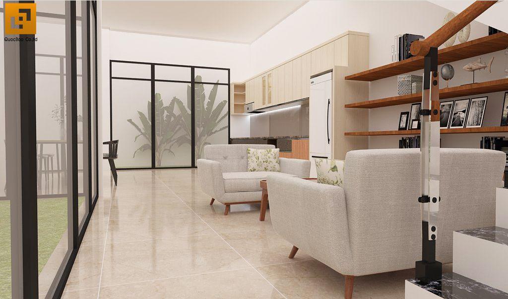 Thiết kế phòng khách Nhà phố gia đình anh Hà tại Trảng Dài - Biên Hòa