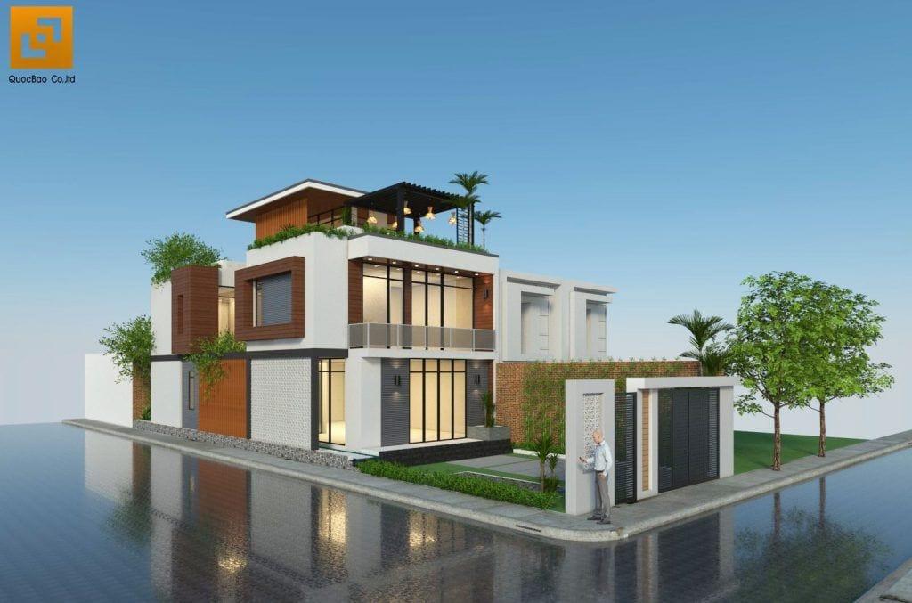 Phối cảnh Nhà phố gia đình anh Hà tại Trảng Dài - Biên Hòa