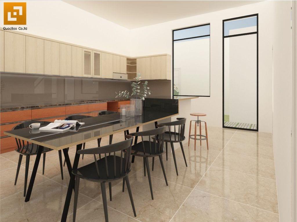 Thiết kế phòng ăn Nhà phố gia đình anh Hà tại Trảng Dài - Biên Hòa