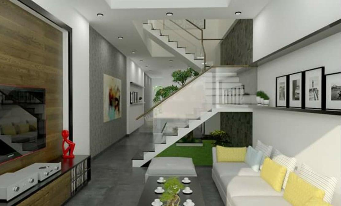 Thiết kế phòng khách nhà phố anh Hữu
