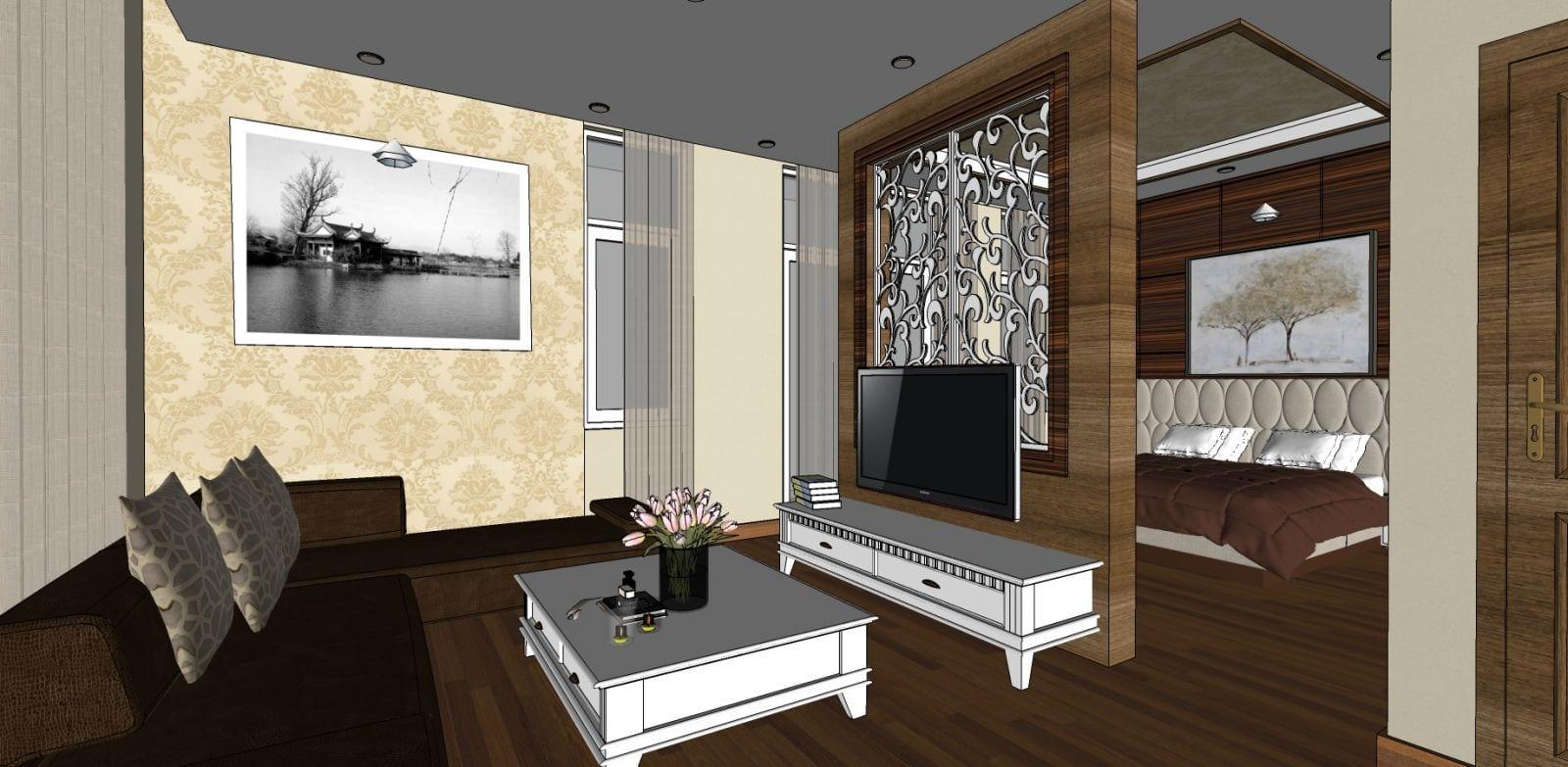 Thiết kế phòng ngủ đẹp công ty Thiên Ân Thịnh