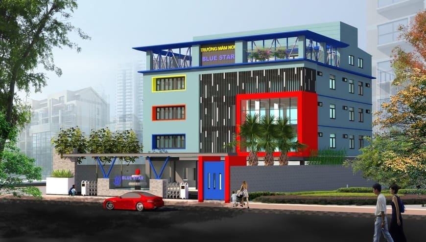 Thiết kế Thi công trường mầm non Ánh Sao Xanh P. Tân Mai Tp. Biên Hòa