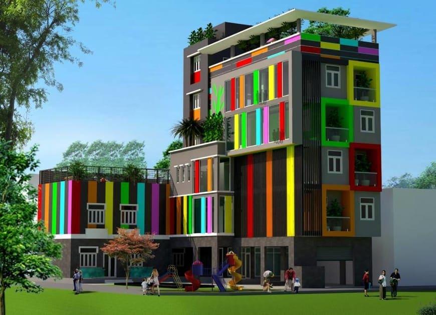 Thiết kế Thi công trường mầm non Cầu Vồng tại Biên Hòa, Đồng Nai