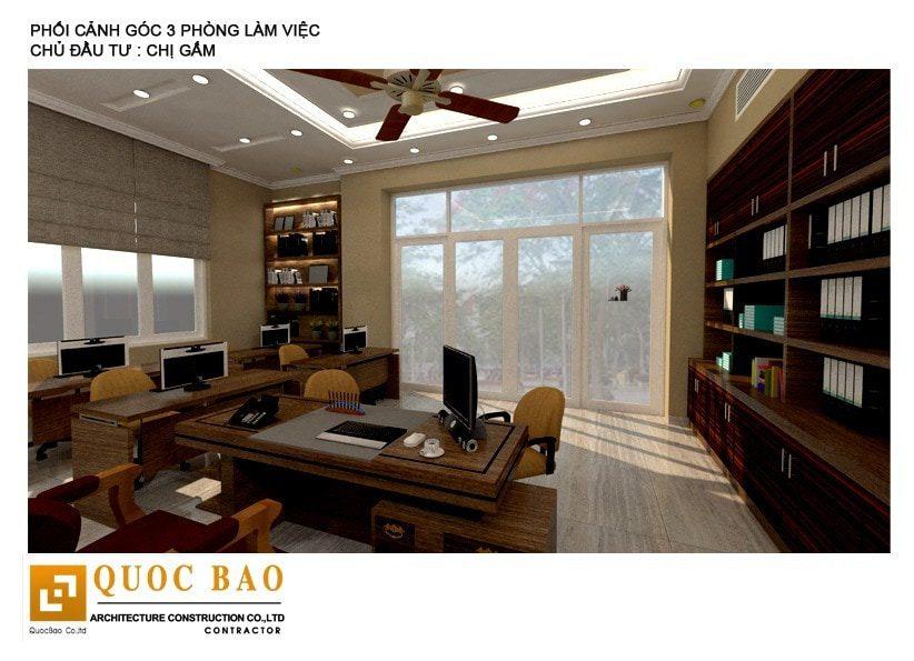 Thiết kế phòng làm việc công ty Thiên Ân Thịnh