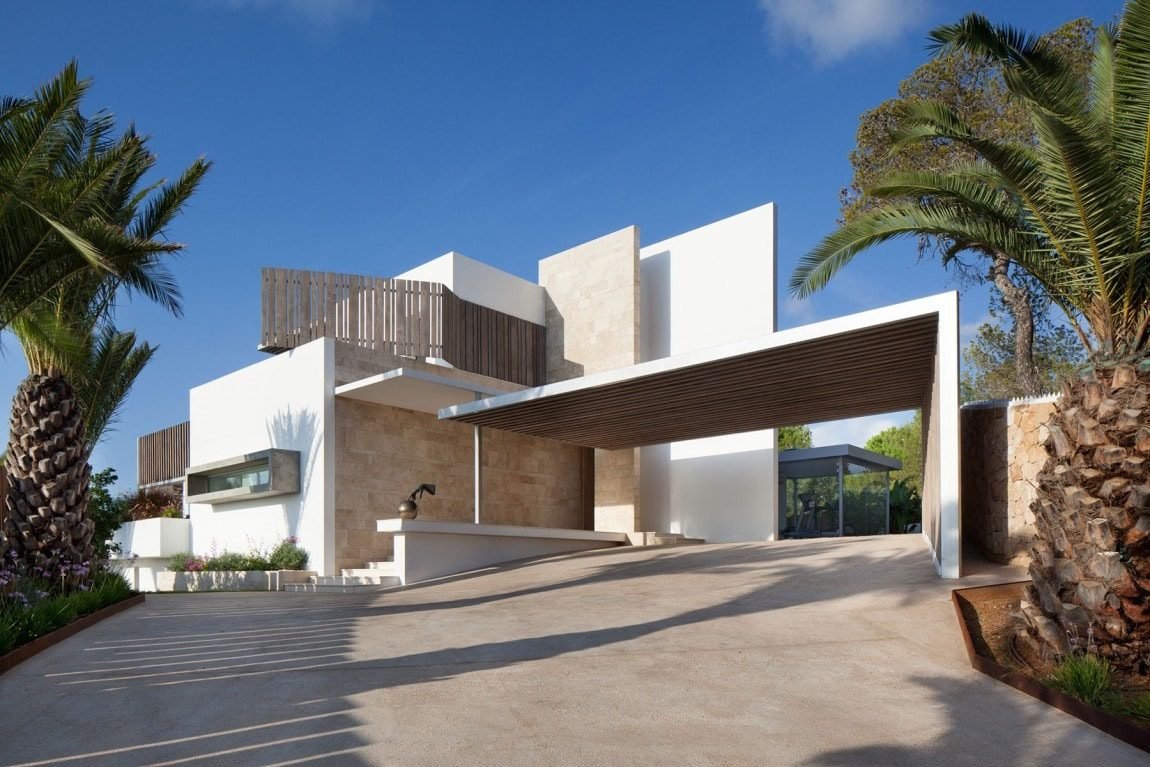 Nhà biệt thự đẹp hiện đại nằm cạnh bờ biển