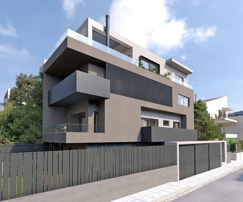 Biệt thự mini 4 tầng hiện đại