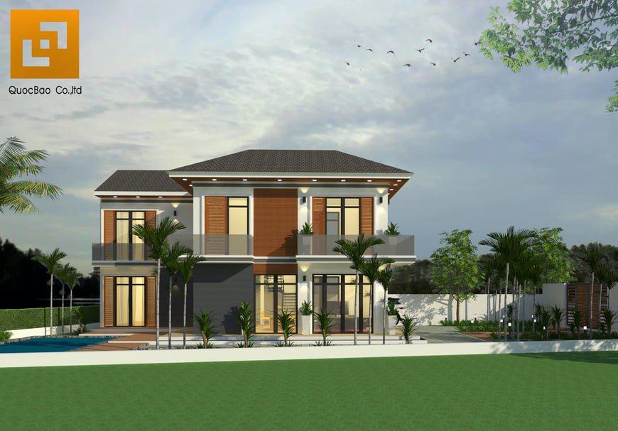 Biệt thự nhà vườn thiết kế nhiều mảng xanh thân thiện với môi trường
