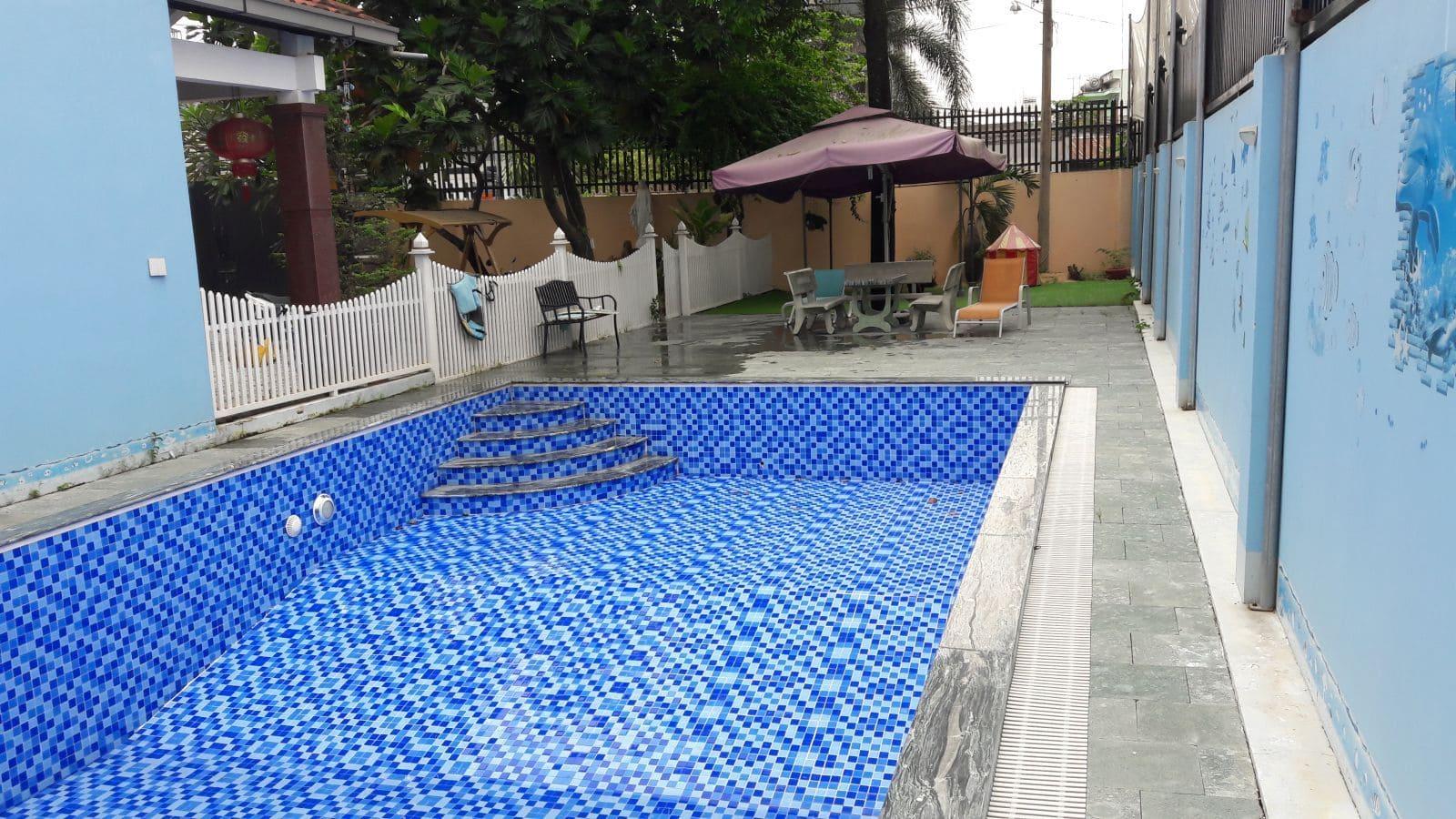 Cải tạo sửa chữa bể bơi gia đình anh Trịnh chị Yên Hố Nai – Biên Hòa - Ảnh thi công 8