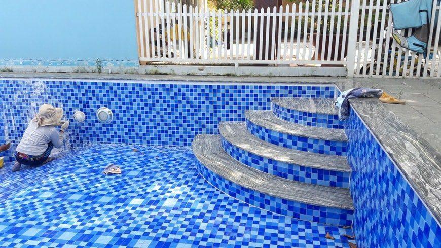 Cải tạo sửa chữa bể bơi gia đình anh Trịnh chị Yên Hố Nai – Biên Hòa - Ảnh thi công 7