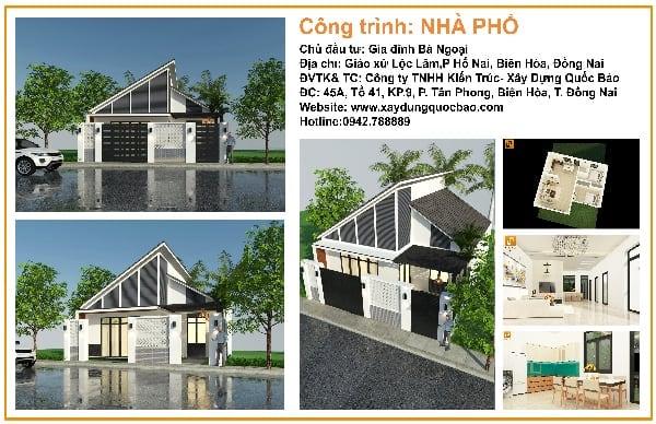 Công trình nhà phố hiện đại gia đình bà Ngoại Lộc Lâm - Biên Hòa