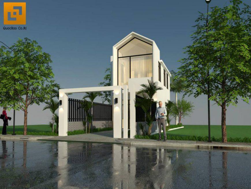 Thiết kế nhà phố anh Phương - Góc 1
