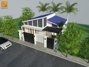 Mặt bằng tổng thể nhà phố hiện đại gia đình bà Ngoại Lộc Lâm - Biên Hòa