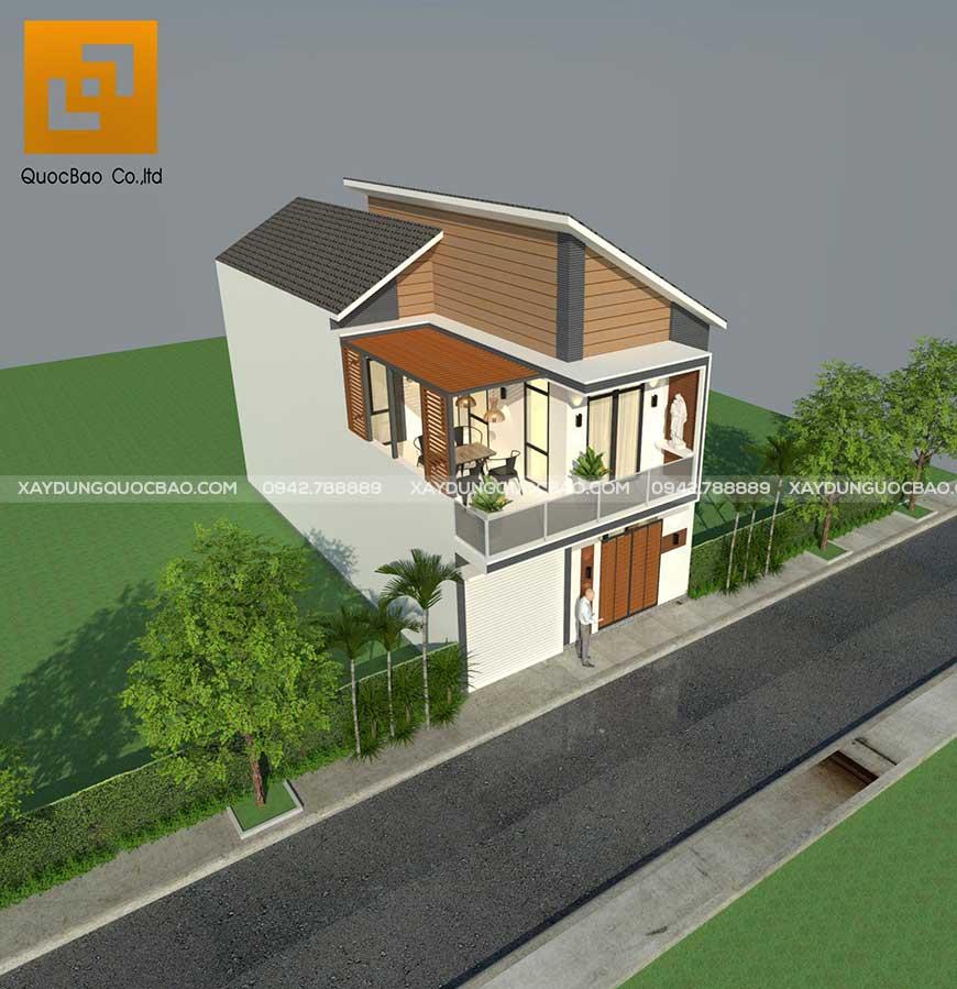 Mặt bằng tổng thể nhà phố hiện đại gia đình anh Phước tại Biên Hòa, Đồng Nai