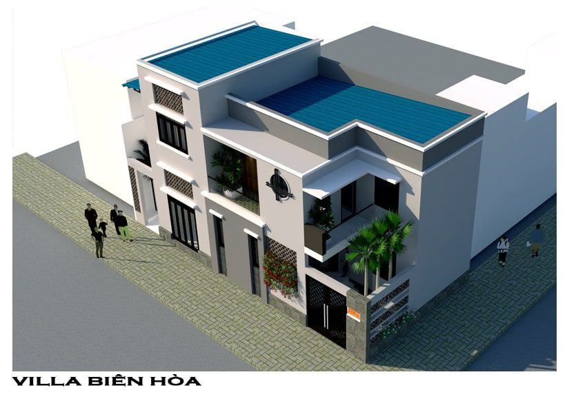 Mặt bằng tổng thể Villa đẹp gia đình anh Khánh tại Phường Tam Hiệp, Tp. Biên Hòa, Đồng Nai
