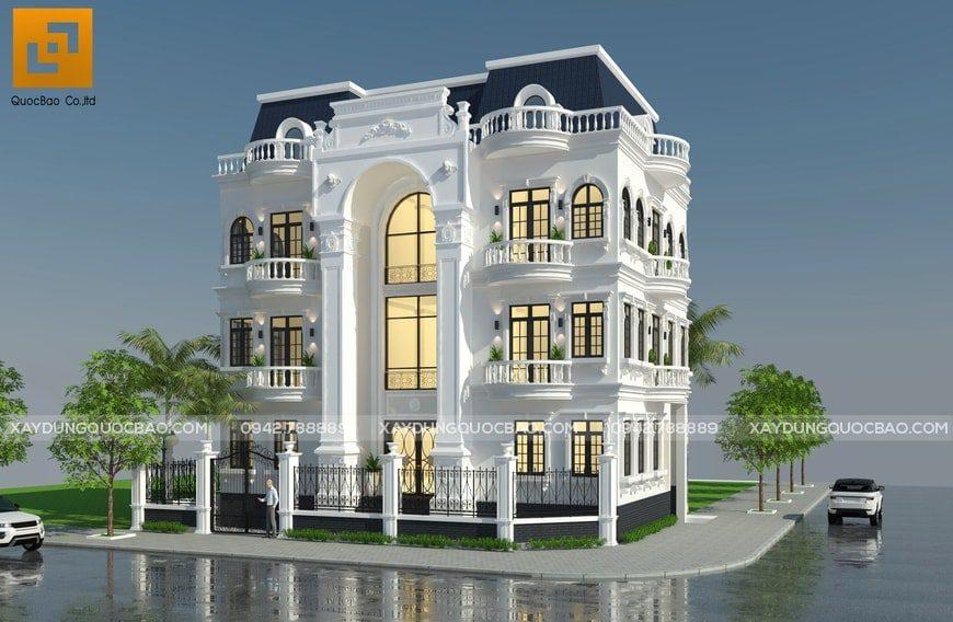 Mẫu Biệt thự Cổ điển đẹp phong cách Pháp tại Đồng Nai