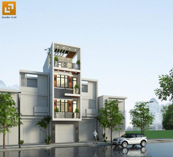 Mặt tiền nhà ống 3 tầng đẹp của gia đình anh Châu tại Biên Hòa