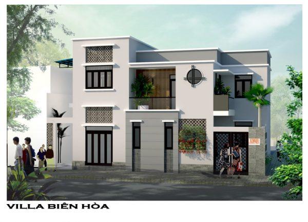 Mặt tiền Villa đẹp gia đình anh Khánh tại Phường Tam Hiệp, Tp. Biên Hòa, Đồng Nai