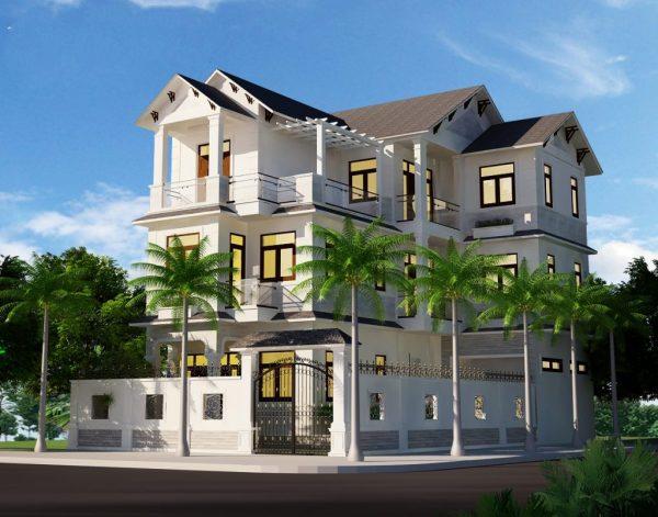 Mẫu nhà mái thái 3 tầng thiết kế đẹp
