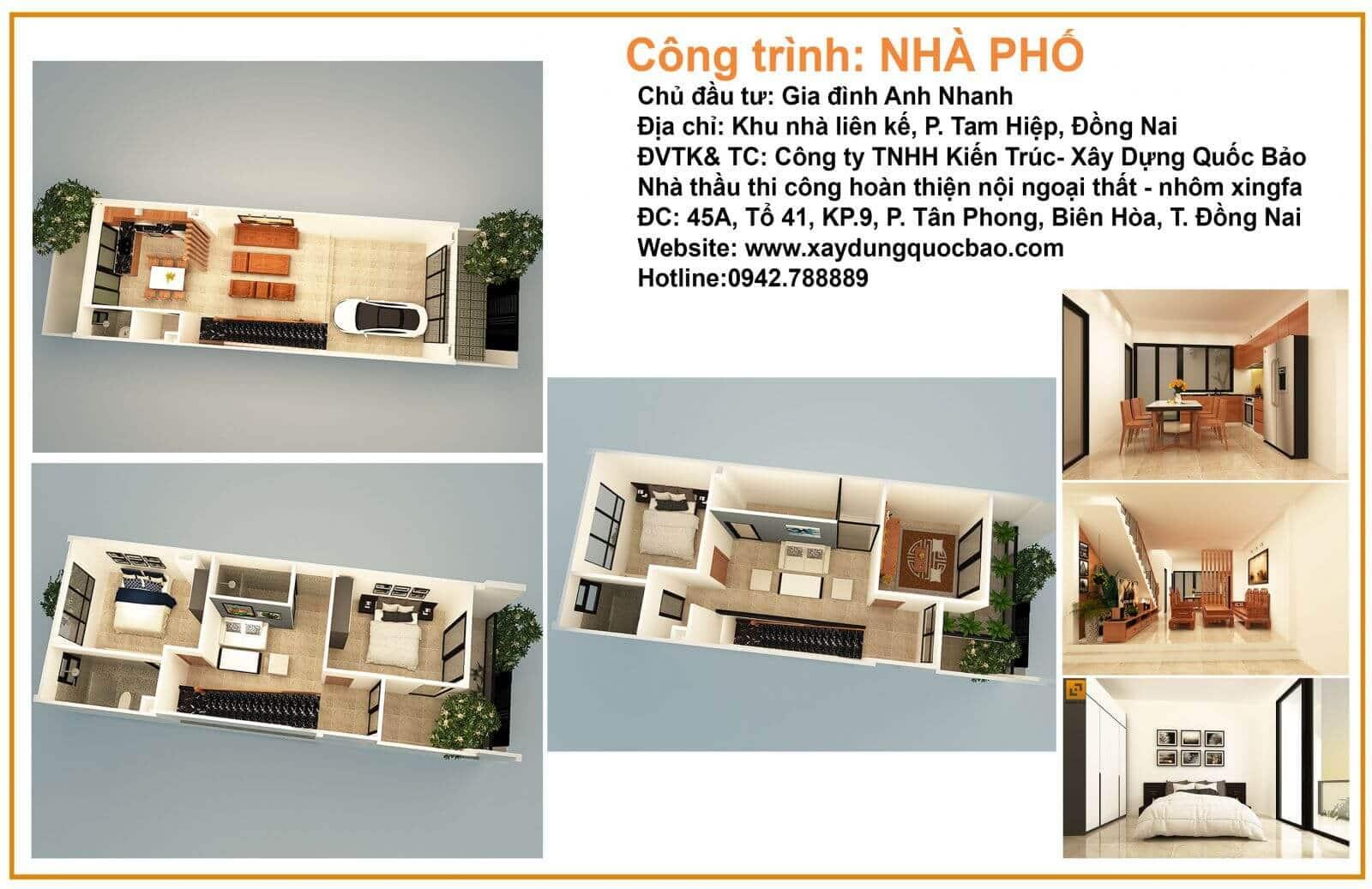 Mẫu nhà phố đẹp năm 2019 tại Biên Hòa Đồng Nai