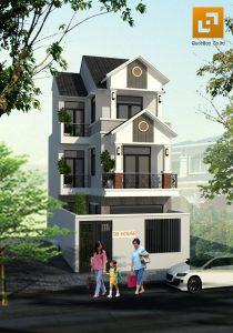 Mẫu nhà mái thái 3 tầng tại Biên Hòa Đồng Nai