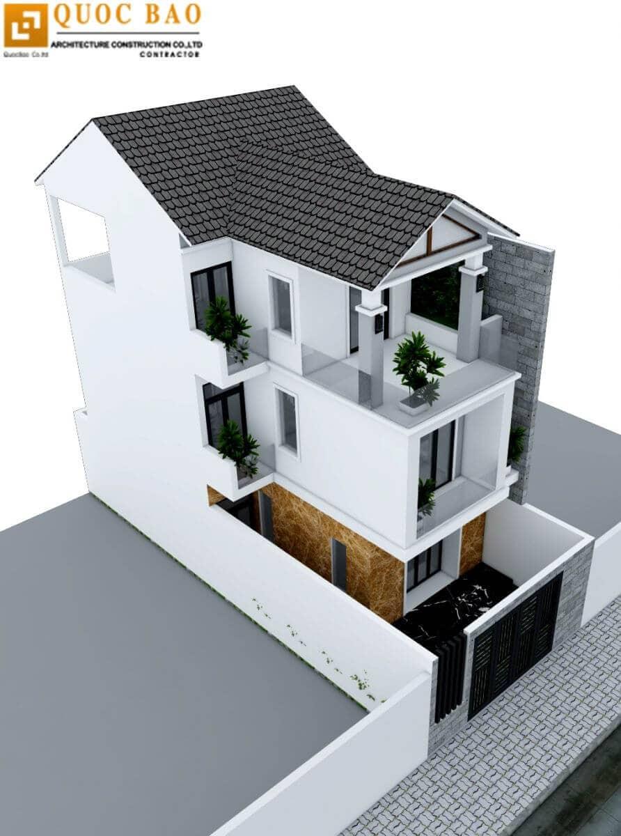 Mẫu thiết kế nhà ống mái thái hiện đại
