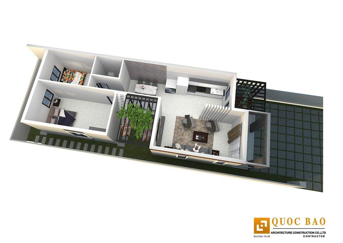Thiết kế nhà ở đẹp tại Trảng Bom của Quốc Bảo