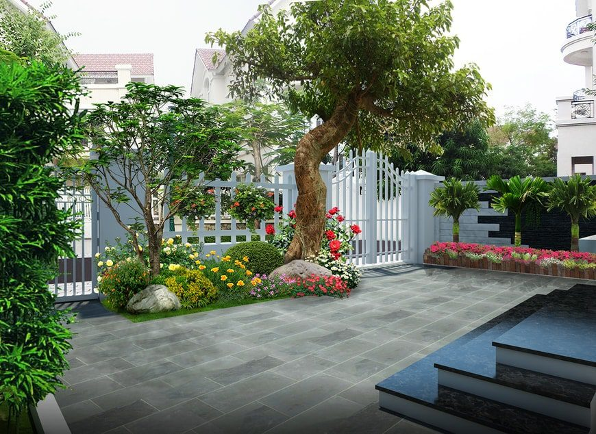 Mẫu thiết kế sân vườn - Ảnh 4