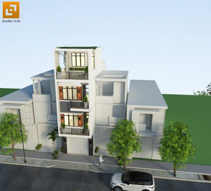 Thiết kế nhà phố 4 tầng gia đình anh Châu tại Đồng Nai