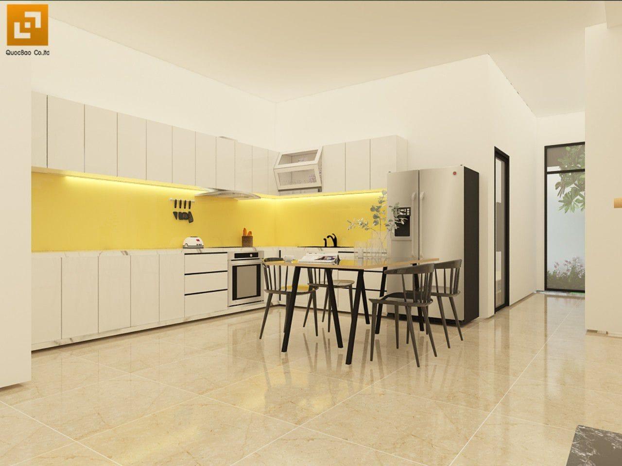 Nội thất phòng bếp nhà phố gia đình anh Giang - Biên Hòa