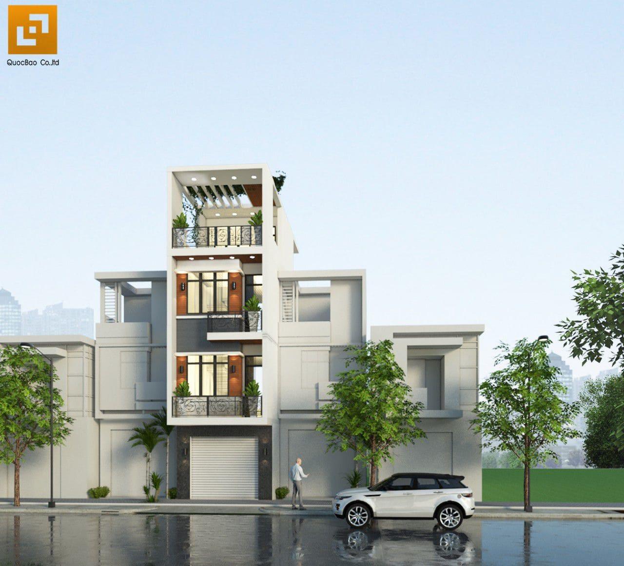 Phối cảnh nhà phố gia đình anh Châu tại Biên Hòa