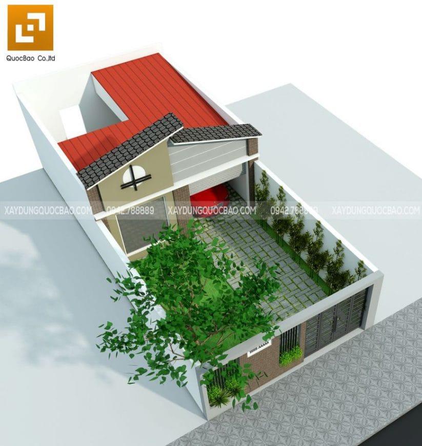 Phối cảnh nhà phố sân vườn anh Hiếu tại Tam Hiệp - Biên Hòa - Đồng Nai
