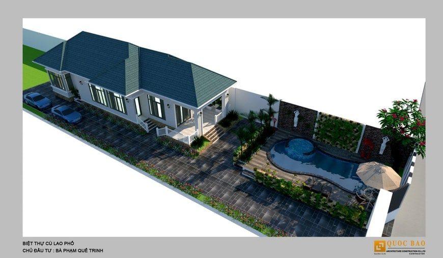 Phối cảnh tổng thể biệt thự nhà vườn Cù lao phố tại Biên Hòa - Đồng Nai
