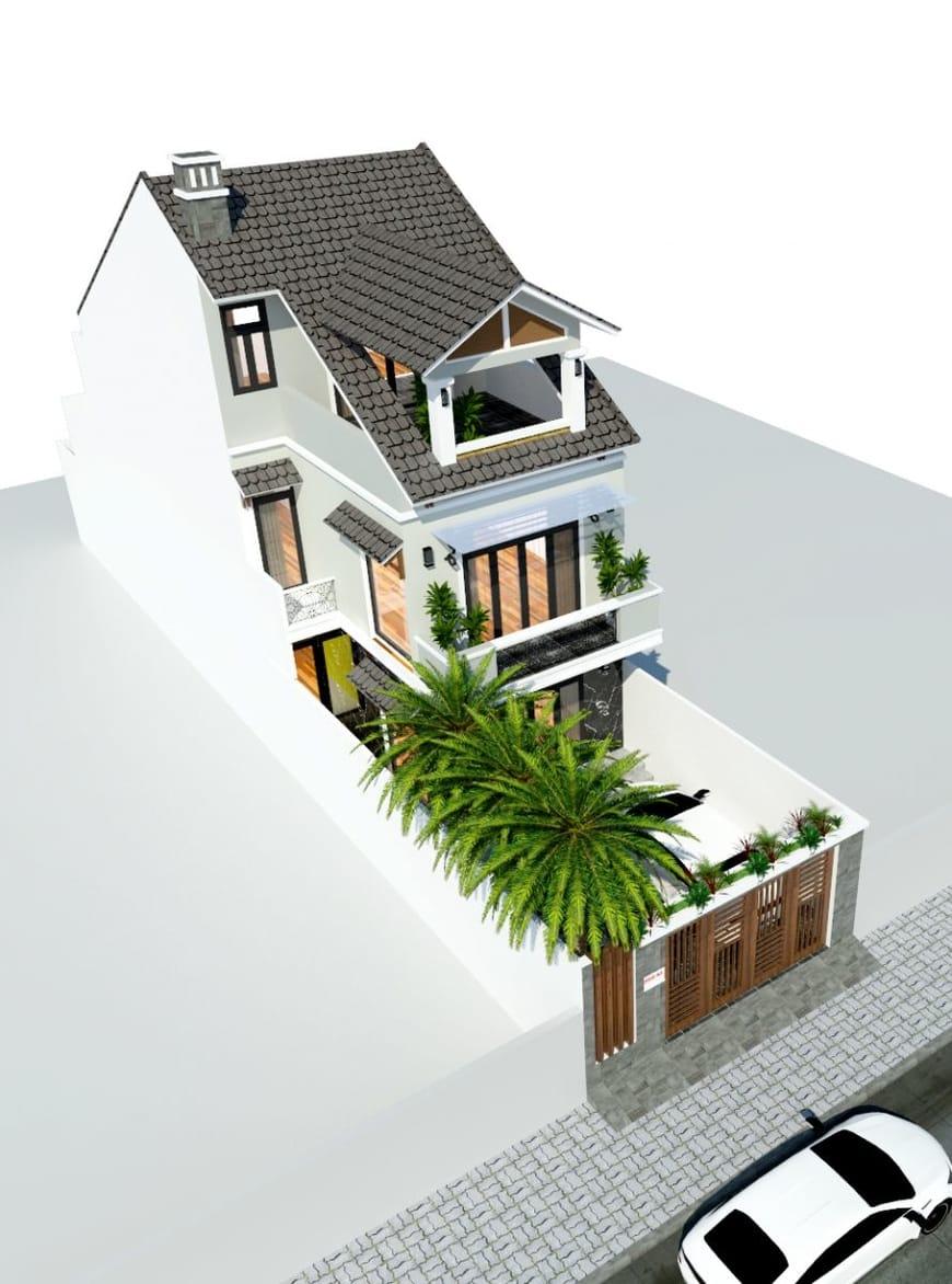 Phối cảnh tổng thể ngôi nhà phố gia đình bác sỹ Hùng tại Biên Hòa - Đồng Nai