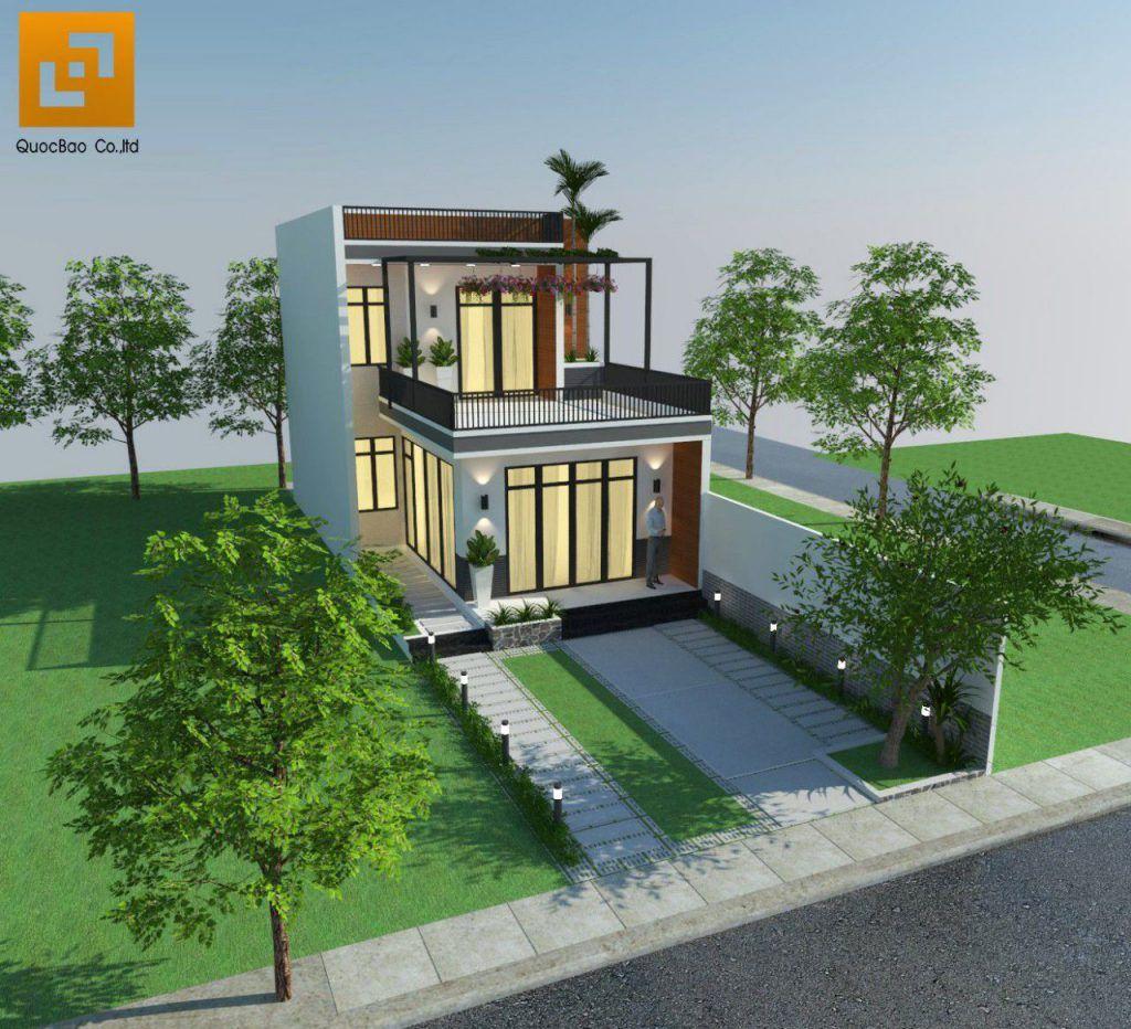 Phối cảnh tổng thể nhà phố gia đình anh Giang - Biên Hòa