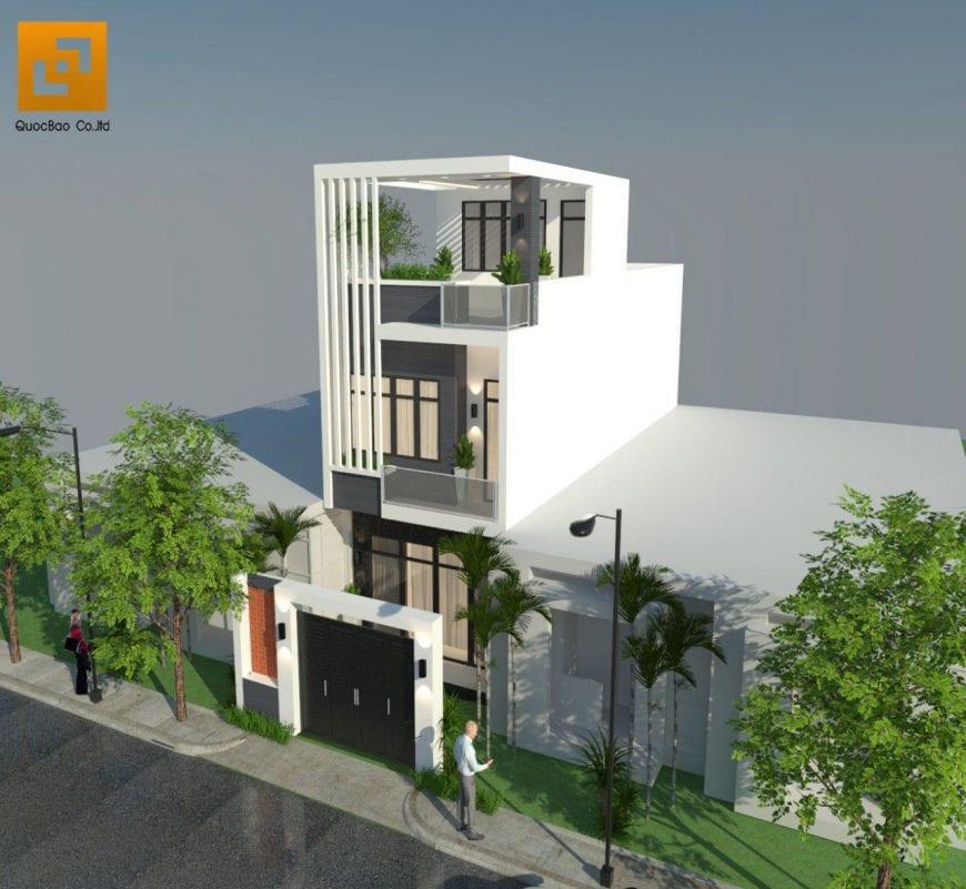 Phối cảnh tổng thể ngôi nhà phố hiện đại tại Tp. HCM