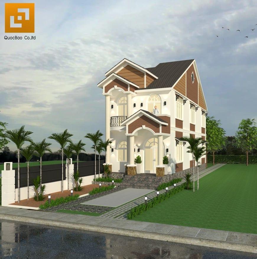 Từng đường nét kiến trúc đều được trau chuốt cẩn thận làm toát lên phong cách của gia chủ và nổi bật điểm nhấn của ngôi nhà