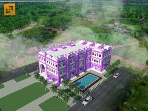 Phối cảnh tổng thể trường mầm non Quốc tế Hoa Tím tại Biên Hòa - Đồng Nai