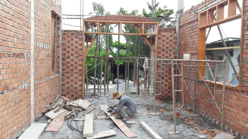 Thi công tầng trệt Biệt thự tại Vĩnh Cửu