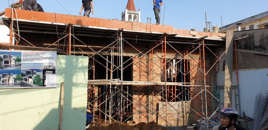 Thi công nhà phố 1 trệt 1 lầu anh Bằng tại Biên Hòa - Ảnh 5